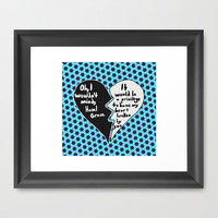The Fault in Our Stars #9 Framed Art Print by Anthony Londer | Society6