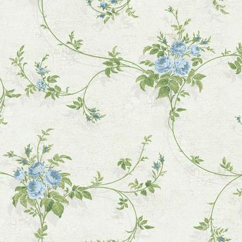 York GD5477 York Wallcoverings Rose Trail Wallpaper