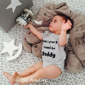 When i grow up i wanna be Daddy, onies baby suit newborn baby | unisex | baby styling Baby Shower Gift
