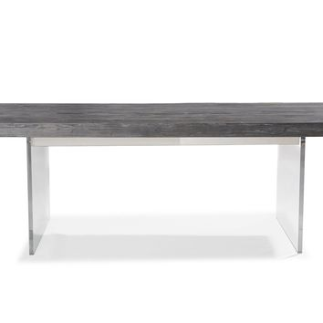 Berlin Pine and Lucite Dining Table