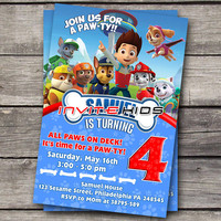 Paw and Friends Celebrate - Invitation Card - Birthday Party Kids - InviteKids
