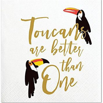 Toucans are Better than One Beverage Paper Napkins