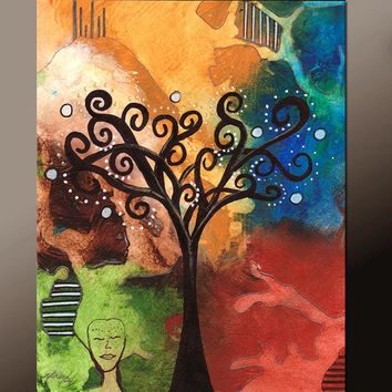 11x14 Abstract Fine Art Print Contemporary Landscape by Destiny Womack - Tree of Dreams - dWo