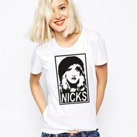 EAST KNITTING WT0022 New Women Tshirt Stevie Nicks Obey T-shirt Tee T-shirt Simple Tops  Punk T Shirt Plus Size
