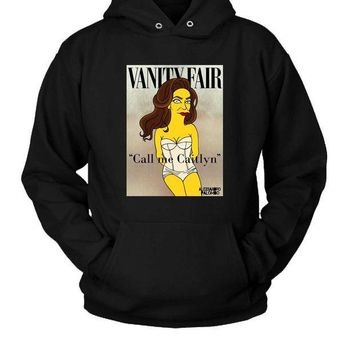 ESBP7V Caitlyn Jenner Simpsons Hoodie Two Sided