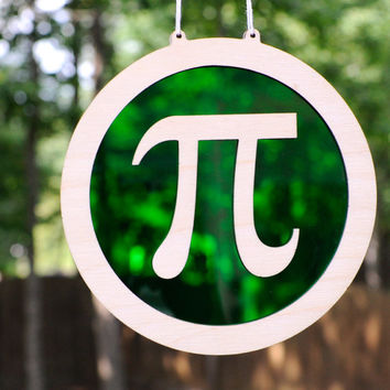 Pi Symbol Suncatcher and Hanging Wall Art - 3.14 Geek Decor