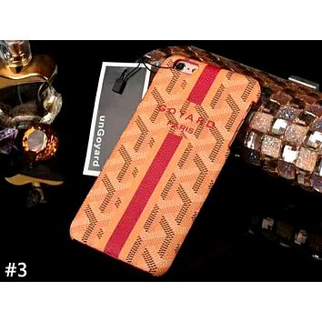 GOYARD Tide brand half-pack hard shell iphone8plus mobile phone case cover #3