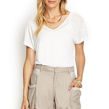 LOVE 21 Unstructured Cargo Shorts