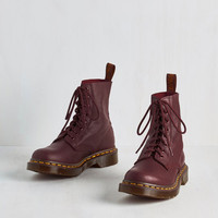 Vintage Inspired March Through Manhattan Boot in Maroon