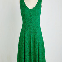 Sleeveless A-line All in Due Thyme Dress