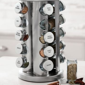 Brushed Stainless-Steel Spice Rack