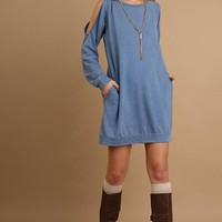 Mineral Washed Pocket Dress