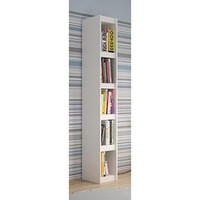 Valuable Parana Bookcase 1.0 with 5-Shelves in White