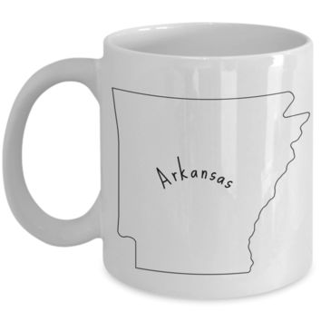 50 states series - Arkansas outline - coffee / hot chocolate / tea mug - 11 oz ceramic cup