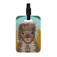 """Art Love Passion """"Squirrel"""" Teal Brown Decorative Luggage Tag"""