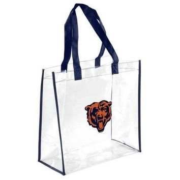 Chicago Bears Clear Reusable Plastic Tote Bag NFL 2017 Stadium Approved