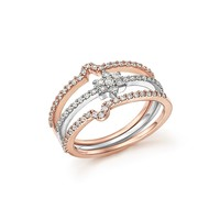 Bloomingdale'sDiamond Micro Pavé Stackable 3 Ring Set in 14K White and Rose Gold, .54 ct. t.w.