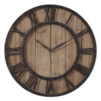 Uttermost 'Powell' Wooden Wall Clock