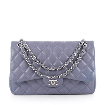 Chanel Pre-Owned: Classic Double Flap Bag Quilted Lambskin Jumbo | Bluefly.Com