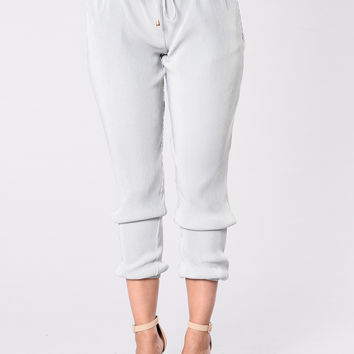 Late Nights Pants - Dusty Blue