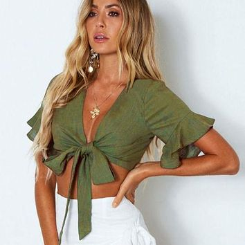 New Fashion Women Casual Tank Crop Tops Vest  Off Shoulder short Sleeve T-Shirt sexy
