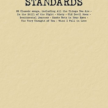 Standards Budget Book - Piano/Vocal/Guitar Songbook