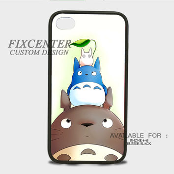 Totoro And Friends 2 Rubber Cases for iPhone 4,4S, iPhone 5,5S, iPhone 5C, iPhone 6, iPhone 6 Plus, Samsung Galaxy S3, Samsung Galaxy S4, Samsung Galaxy S5  phone case design