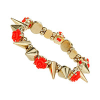 Flower Stud Stretch Bracelet - Jewelry - Bags & Accessories - Topshop USA