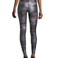 Terez Heathered Camo Tall-Band Full-Length Tights