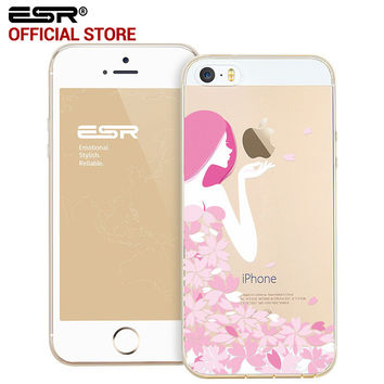ESR Cartoon Soft TPU Protective Case Anti-Scratch Ultra Thin Clear Skin Back Cover iPhone 5/5s/5SE