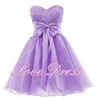 Sweetheart Organza Short Prom Dress/Homecoming Dress