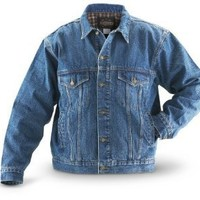 Guide Gear Flannel - lined Denim Jacket Stonewash $39.97 - $49.97