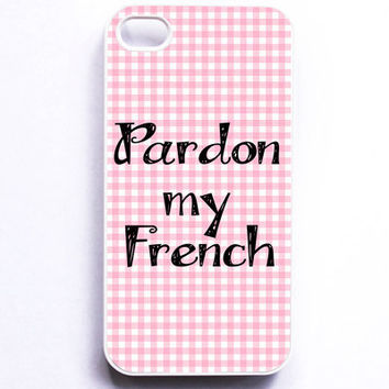 Iphone Case  Pardon my French  Pink Paris by MursBlanc on Etsy