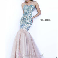 Strapless Sweetheart Formal Prom Gown By Sherri Hill 1948