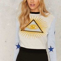 Nasty Gal Evil Eye Intarsia Sweater