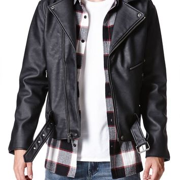 Modern Amusement Gunner Moto Jacket - Mens Jacket - Black