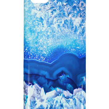 Blue Agate Geode Print iphone 5C Plastic Case All Over Print