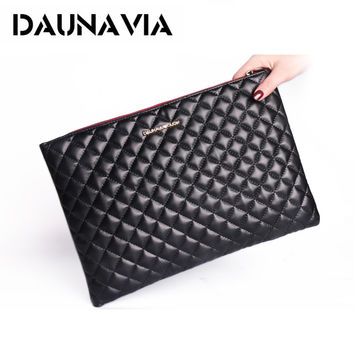 DAUNAVIA Fashion  women's clutch bag leather women envelope bag clutch evening bag female Clutches Handbag free shipping ND121