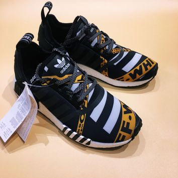 3bf8d20a64437 Off-White Adidas NMD R1 Fashion Trending Running Sports Shoes Sn