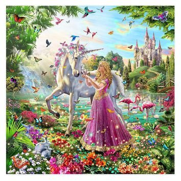 Alice wonderland girl Child DIY Digital Painting By Numbers Modern Wall Art Canvas Painting Unique Gift Home Decor 40x50cm