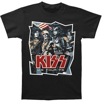 KISS Men's  U.S. Tour '76 T-shirt Black