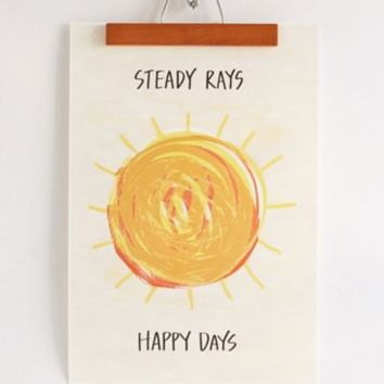 Assembly Home Steady Rays Art Print- White One