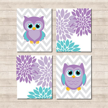 Shop lavender nursery wall decor on wanelo - Girl owl decor ...