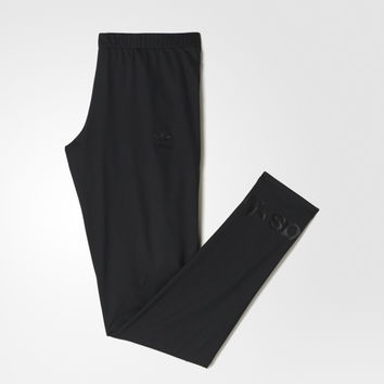 Adidas Originals Fashion Print Black Running Leggings Sweatpants