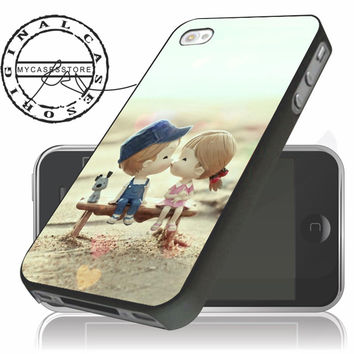 Sweet Cartoon Cute Lover Couple iPhone 4s iPhone 5 iPhone 5s iPhone 6 case, Samsung s3 Samsung s4 Samsung s5 note 3 note 4 case, Htc One Case