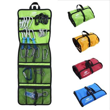 Outdoor Mountaineering Rock Climbing Safety Harness Hook/Rope Bag Quickdraw Storage Bag Tree Climbing Equipment Wall Equipment