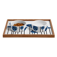 Randi Antonsen Blue Iris Pet Bowl and Tray