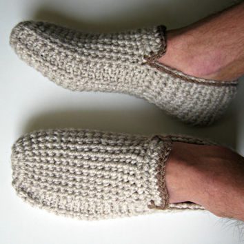 Crochet Men's Slippers, House Shoes, Crochet Shoes, Mens Loafers, Wool Slippers, Slippers Socks, Gift for Men, Christmas Gifts, UnaCreations