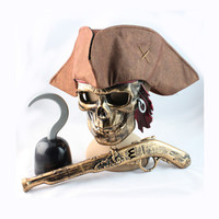 Pirate Face Mask Halloween Hats [9033584263]