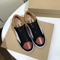 Burberry Women Men Casual Shoes Boots fashionable casual leather Women Heels Sandal Shoes created